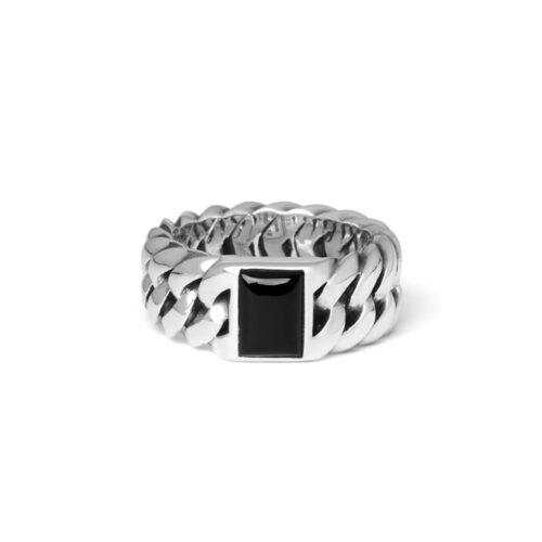 Buddha to Buddha Chain Stone Onyx Ring