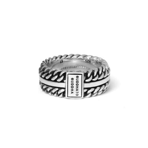 Buddha to Buddha Chain Texture Ring