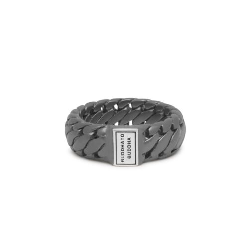 Buddha to Buddha Ben Small Black Rhodium Silver Ring