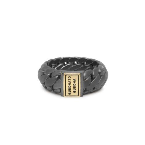 Buddha to Buddha Ben Small Black Rhodium Gold ring