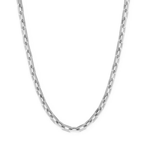 Buddha to Buddha Barbara link xs necklace silver front