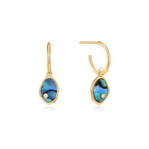 Ania Haie E027-01G Turning Tides Hoop Earrings